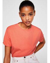 Mango - Knot Cotton T-shirt - Lyst