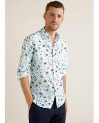 Mango - Slim-fit Floral Print Shirt - Lyst