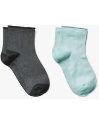 Mango - 2 Pack Striped Socks - Lyst