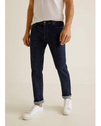 Mango - Slim-fit Dark Wash Jan Jeans - Lyst