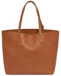 Mansur Gavriel - Tumble Large Tote - Saddle - Lyst