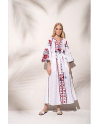 MARCH11 - Flower Pixel Maxi Dress In White - Lyst