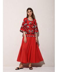 MARCH11 - Flower Of Life Maxi Dress In Red - Lyst