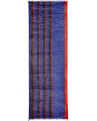 Marc Jacobs - Multi Stripe Oblong Silk Scarf - Lyst