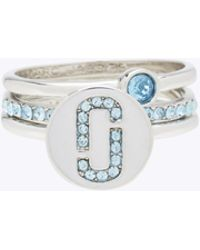 Marc Jacobs - Double J Pave Ring Set - Lyst