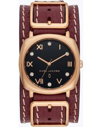 Marc Jacobs - Mandy Leather Cuff Watch 34mm - Lyst
