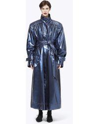 Marc Jacobs - Belted Metallic Vinyl Trench Coat - Lyst