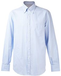 Brunello Cucinelli - Gingham Button Down Shirt - Lyst