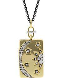 Monica Rich Kosann - Sun Moon And Stars Diamond Locket Necklace - Lyst