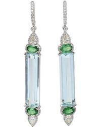 Inbar - Aquamarine Earrings - Lyst
