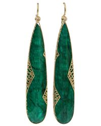 Yossi Harari - Emerald Slice Lace Earrings - Lyst