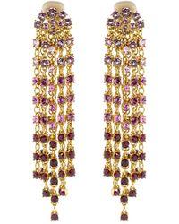 Oscar de la Renta - Crystal Cascade Earrings - Lyst