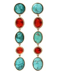 Katherine Jetter - Turquoise And Opal Earrings - Lyst