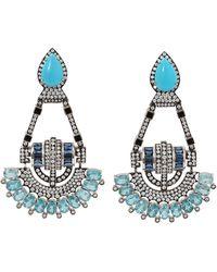 Silvia Furmanovich - Turquoise And Diamond Earrings - Lyst