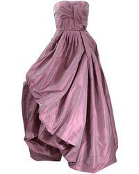 35e8fa906e9d Alberta ferretti Feathers Skirt Evening Gown in Natural