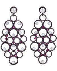 Gemfields X Muse - Ruby And Pearl Earrings - Lyst