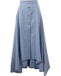 Peter Pilotto - Cotton Linen Skirt - Lyst