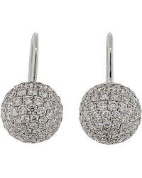 Shamballa Jewels - White Diamond Pave Earrings - Lyst