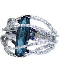Inbar - Tourmaline And Diamond Pave Wrap Ring - Lyst