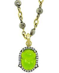 Sylva & Cie - Green Intaglio Scarab Pendant - Lyst