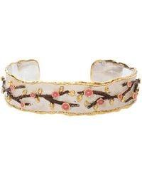 Victor Velyan - Cherry Blossom Cuff Bracelet - Lyst