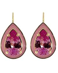 Alison Lou - Pink Sapphire Cocktail Earrings - Lyst