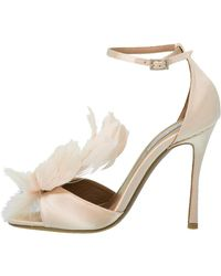 Tabitha Simmons - Avary Feather Ankle Wrap Heel - Lyst