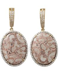 Pamela Huizenga - Oval Xaxim Earrings - Lyst
