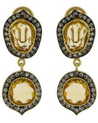 Sylva & Cie - Citrine Slice Earrings - Lyst