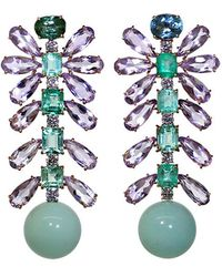 Irene Neuwirth - Tourmaline And Emerald Earrings - Lyst