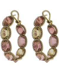 Katherine Jetter - Pastel Multi-color Tourmaline Hoops - Lyst