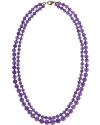 Sylva & Cie - Amethyst Double Strand Beaded Necklace - Lyst