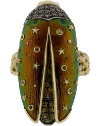 Bibi Van Der Velden - Scarab Fly Yellow Gold Ring - Lyst