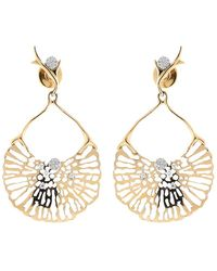 Federica Rettore - Gorgonia Diamond Fan Earring - Lyst
