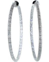 Mattia Cielo - Rugiada Micro Pave Diamond Hoop - Lyst