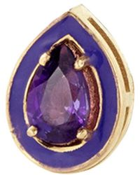 Alison Lou - Amethyst Single Stud Earring - Lyst