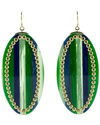 Mark Davis - Green And Blue Bakelite Earrings - Lyst