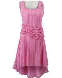 Alberta Ferretti - Chiffon High Low Dress - Lyst