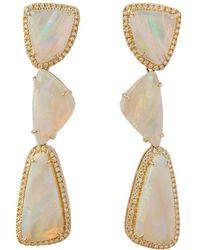 Dana Rebecca - Courtney Lauren Opal And Diamond Earrings - Lyst