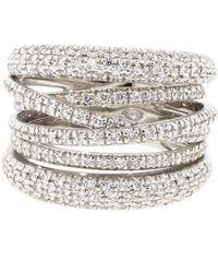 Sidney Garber - Scribble Diamond Band Ring - Lyst