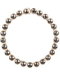 Larkspur & Hawk - Olivia Button Riviere Necklace - Lyst