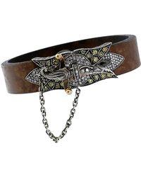 Sevan Biçakci - Sword Clasp Leather Bracelet - Lyst