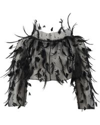 Oscar de la Renta - Feather Topper Jacket - Lyst