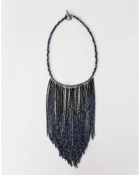 Brunello Cucinelli | Fringe Bib Monili Necklace | Lyst