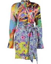 Mary Katrantzou - Sonia Printed Woven Mini Dress - Lyst