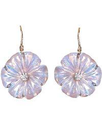 Irene Neuwirth | Carved Opal Flower Earrings | Lyst