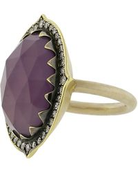 Sylva & Cie - Purple Chalcedony Ring - Lyst