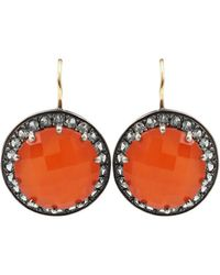 Andrea Fohrman - Carnelian And Gray Sapphire Button Earrings - Lyst