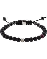 Shamballa Jewels - Black Diamond Lock Bracelet - Lyst