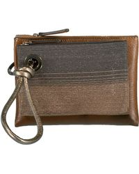 Brunello Cucinelli - Leather Monili Wristlette Double Pouch - Lyst